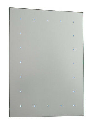 Saxby Toba battery operated LED illuminated bathroom mirror (no wiring required)