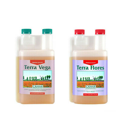 Canna Terra Vega + Flores - 2 x 1L Set | Hydroponics 1-part Base Nutrient