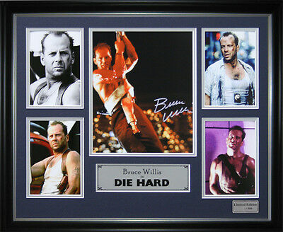 Die Hard Bruce Willis Signed Framed Memorabilia