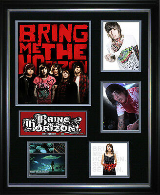 Bring Me The Horizon Signed Framed Memorabilia