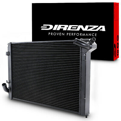 DIRENZA 40mm BLACK ALLOY SPORT RADIATOR RAD FOR BMW MINI R53 COOPER S 1.6 00-06