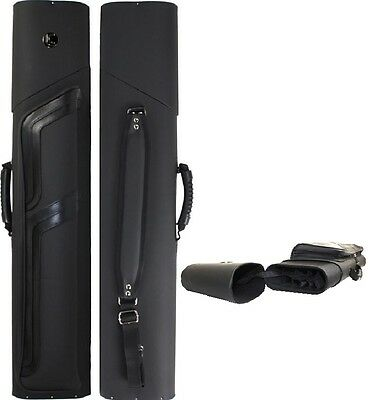 New Lucasi LC836 LTD 3x6 Pool Cue Case - Matte Black Finish - FREE US SHIPPING