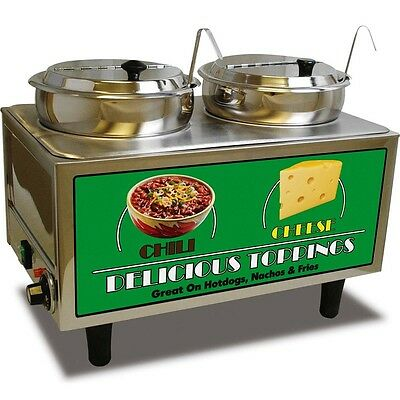 Nacho Cheese & Chili Tabletop Warmer & Server - Heated Concession Merchandiser