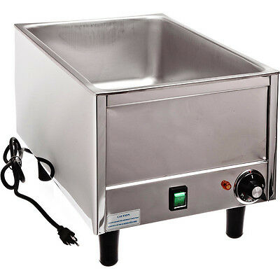 Stainless Steel Countertop Food Warmer, Commercial Soup & Chili Condiment Server
