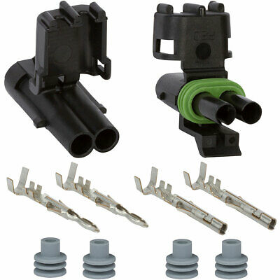Weather Pack 2 Pin Connector Kit 16-14ga.
