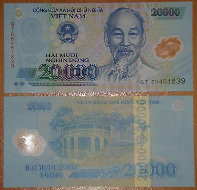 VIETNAM Polymer Plastic Banknote 20000 Dong UNC