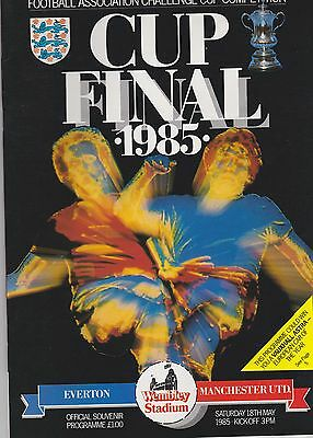 Everton V Manchester United ~  Fa Cup Final 1985 ~ Excellent Condition