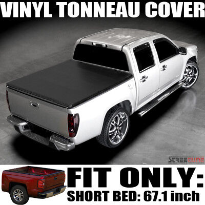 "Hidden Snap Vinyl Tonneau Cover 01-03 F150 Styleside Super Crew Cab 5.5' 66"" Bed"