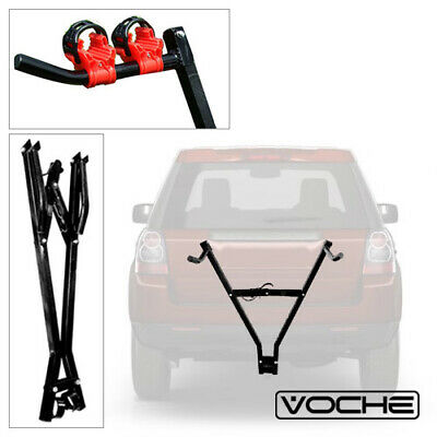 Car Towbar Towball Mounted Cycle Carrier Folding Bike Rack + 4 Bicycle Clamps