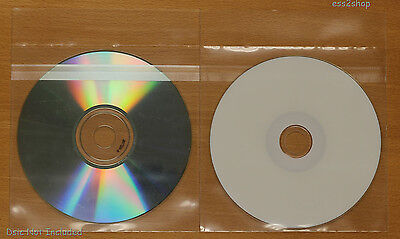 10000 CPP Clear Plastic Sleeve With ReSealable Fit CD/DVD CPRsea