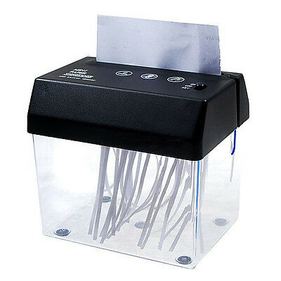 Portable Electric Paper Shredder Home Office Desktop Small Gadget PC Handheld A6