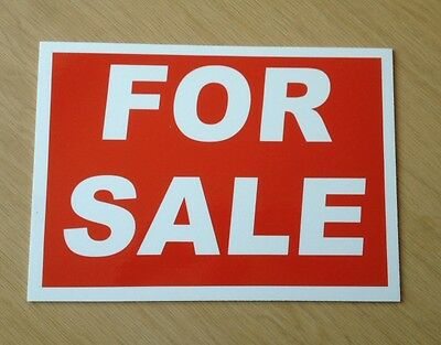 For Sale Sign in Red and White. Ideal for shops, markets, houses etc.  (BL-27)
