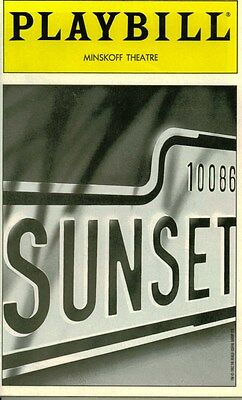 Sunset Boulevard Broadway Playbill - Betty Buckley, Alan Campbell