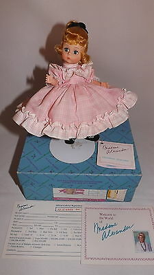 "Madame Alexander 8"" Amy Little Women New In Box With Tag & Stand Miniature"