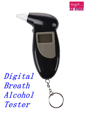 Digital Breath Alcohol Tester Audible Alert Breathalyzer Analyzer with Key Chain