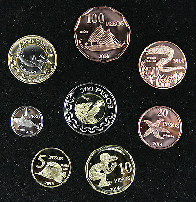 EASTER ISLAND Coins Set of 8 Pieces 2014 UNC