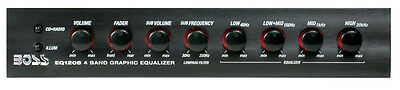 Boss 4 Band Preamp Equalizer With Woofer Output Master Volume Control Boss Audio