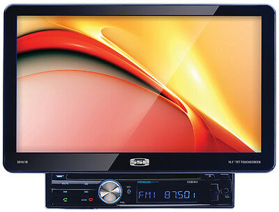 "Single Din 10.1"" Detachable Receiver Bluetooth Dvd/cd Remote Soundstorm Sd101b"