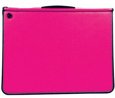 Mapac Premier Portfolio with Rings - Fuchsia Pink - A4