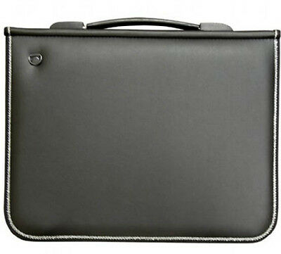 Mapac Premier Portfolio with Rings - Latest Style Black - A1