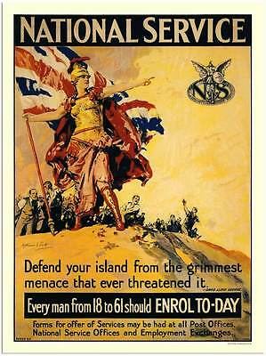 National Service  -  WARTIME POSTER