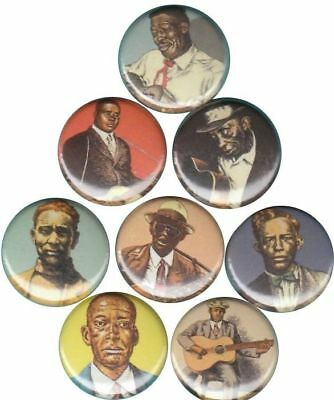 Heroes of the Blues Set of 8 Buttons-Pins-Badges R. Crumb