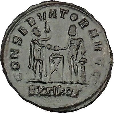 Maximian with Hercules  sacrificing 292AD Ancient Roman Coin  i40650