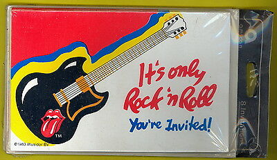 Rolling Stones the 1983 IT'S ONLY ROCK N ROLL 8-pack SEALED invitations