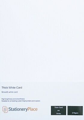 A4 Premium Quality Thick White Card 210 GSM Clairefontaine Sample to 250 sheets