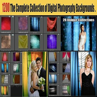 1200 Digital Backgrounds Photography Backdrops 28 Unique Collections ****