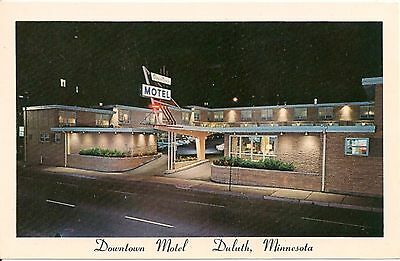 Downtown Motel Duluth MN Postcard