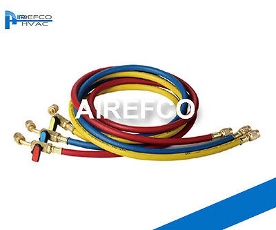 "60"" - R22-R134a Manifold Gauges Hose, Charging Hose with Ball Valve"