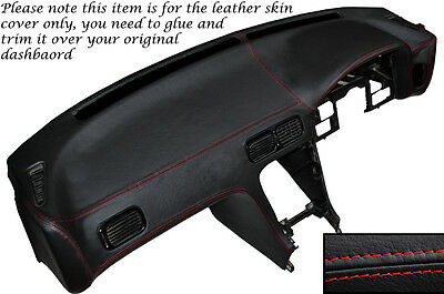 Red Stitch Dash Dashboard Leather Cover Fits Nissan S13 200Sx 180Sx 1988-1993