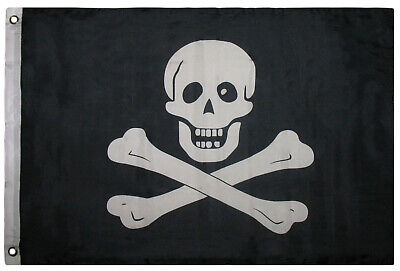 2x3 Jolly Roger Pirate No Patch Skull and Bones SuperPoly Flag 2'x3'