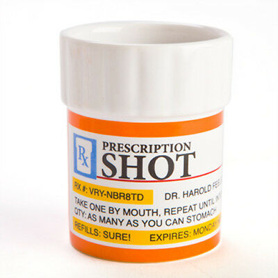 Prescription Shot Glasses - Set of 3 Shooters Drinking Party Glass Mens Gift Alc