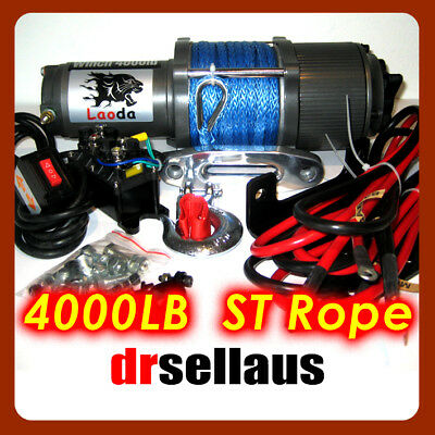 WIRELESS 4000LBS 12V WITH SYNTHETIC ROPE ELECTRIC WINCH