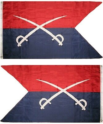 3x5 General Custer 7th Cavalry Union Flag 3'x5' Banner Brass Grommets Tail