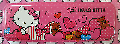 Official Sanrio licensed - Hearts Hello Kitty Character Pencil Case (NEW).