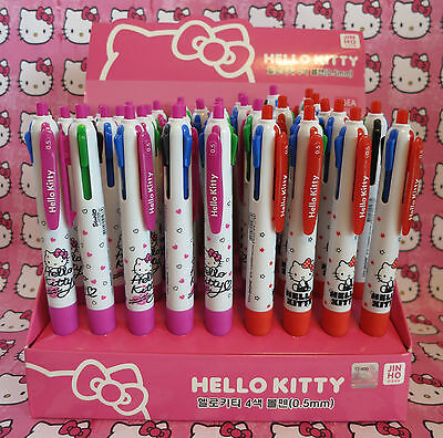 Official Sanrio licensed Hello Kitty 4 X 4 Color Ink Pens 2 Designs 2 Pink 2 Red
