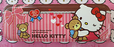 Official Sanrio licensed - Brown Top Hello Kitty Character Pencil Case (NEW).