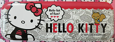 Official Sanrio licensed - B&W Print Hello Kitty Character Pencil Case (NEW).