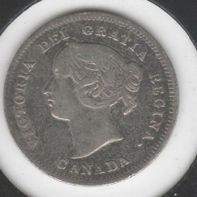 1899 FINE-VERY FINE Canadian Five Cents Silver #4