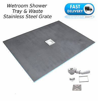 Wet Room Wetroom Tray Base & Drain Waste Only All sizes -(T+D)