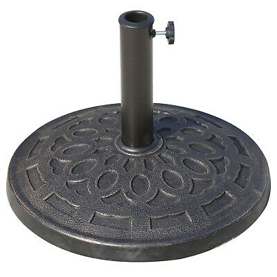 14kg Durable Patterned Colophony Garden Patio Umbrella Round Base Stand