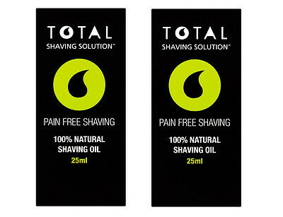 100% Natural Mens Total Shaving Solution Shave Oil Grapeseed Menthol Pre Post