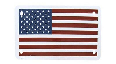 USA American United States Flag Motorcycle Bike Aluminum License Plate Tag