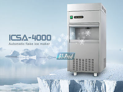 Flake Snow Ice Undercounter Bin Maker Cube Machine For Home & Office 132LB/DAY