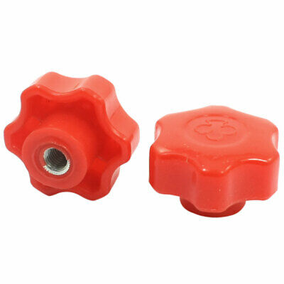 Electric Machine M10 Female Thread 50mm Dia Clamping Hex Knob 2pcs