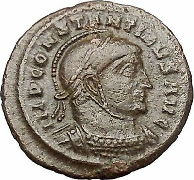 Constantine I The Great 318AD Ancient Roman Coin Two Victories w shield i40831