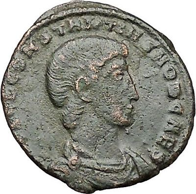 Constantius Gallus 351AD Authentic Ancient Roman Coin Battle Horse man  i40839